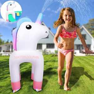 ROYPOUTA Unicorn Sprinkler Inflatable for Kids, Water Sprinkler for Boys Girls Backyard Outdoor, Sprinkler for Yard and Inflatable Pool
