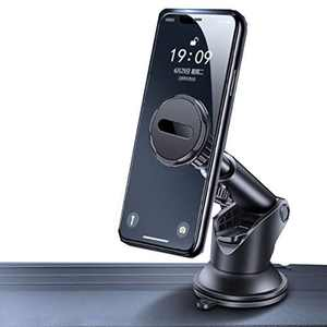 XINFU Magnetic Phone Car Mount 360 Rotation Strong Magnet Cell Phone Holder for Car Dashboard  Long Arm Strong Suctionfit Cell Phone Car Mount with iPhone 12 11 pro XS max se 8 10 9 Samsung s21 s20t