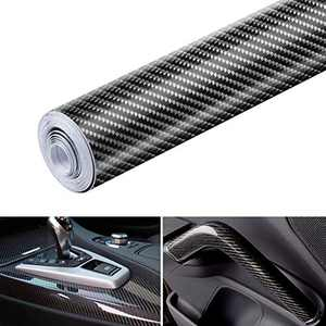 Lypumso 6D Carbon Fiber Vinyl Self Adhesive Film, Wrap Roll Without Bubble, Adapted to The Appearance and The Interior of Motorcycles, Computers, Cars -1ft x 10ft