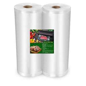 "TowerTop Vacuum Sealer Bags: 2 Pack 8"" x 50' Rolls Vacuum Sealer Bags for Food Saver, Ideal for Vacuum Storage, Meal Prep and Sous Vide Cooking"