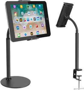 """Zacro Tablet Stand Phone Stand, Adjustable Non-Slip Gooseneck Tablet holder, Flexible Lazy Desktop iPad Stand Compatible With iPad, iPhone, Samsung Tab, other Tablets and Smartphones (5.1""""-8.66"""" inch)"""