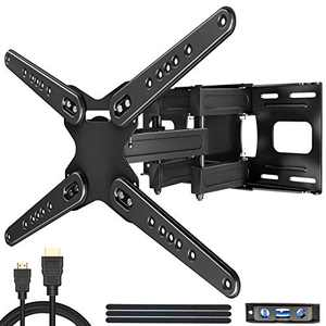 """JUSTSTONE TV Wall Mounts Bracket for Most 28-86 Inches TVs, Full Motion TV Mount Dual Swivel Articulating Tilt Extend with max VESA 600x400mm and up to 121 lbs, 16"""" Studs"""