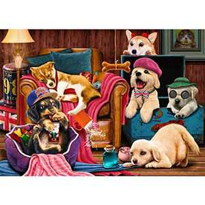 HUADADA Jigsaw Puzzles for Adults 1000 Puzzles for Adults 1000 Pieces Puzzle 1000 Pieces 1000 Piece Jigsaw Puzzles Puppy Dream House