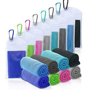 """Amgico 8 Packs Cooling Towel, (40""""x12"""") Instant Cooling Towels Ice Towels Microfiber Towels for Sports Gym Fitness Yoga Jogging Running & Outdoor Activities"""