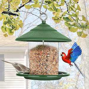 Wild Bird Feeder, Hanging Bird Feeder with Roof, Gazebo Bird feeders for Outside Garden Yard Decoration