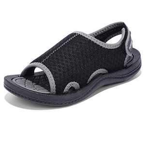 MORENDL Toddler Sandals Boys Girls Open-Toe Water Shoes Kids for Beach Pool Surfing Walking Swimming Black Grey 7-8 US Toddler