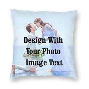 "Customized Pillowcase Personalized Fathers Mothers Day Gifts Throw Custom Pillow Pet Photo Pillow Cover Love Wedding Keepsake 18""x18"""