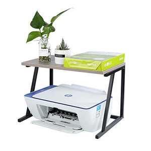Desktop Stand for Printer - Flower Shelf -Kitchen Shelf-Desktop Space OrganizerShelf with Anti - Space Organizer , Book Shelf, Double Tier Tray with Hardware (Single Layer)