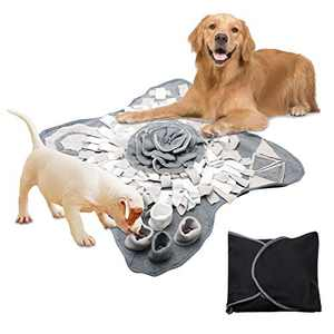 LKEREJOL Snuffle Mat for Dogs Small Large Pets, Nosework Feeding Mat, Stress Release Slow Eat Machine Washable Anti Slip