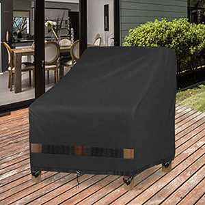 """GARDRIT Patio Chair Covers, Heavy Duty Outdoor Chair Covers, 100% Waterproof Chair Covers for Patio Furniture Fits up to 30"""" W x 37"""" D x 31"""" H ,Black"""
