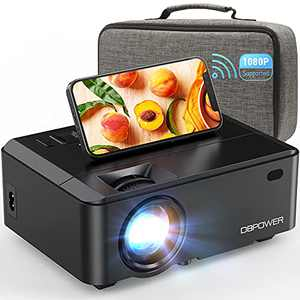 WiFi Mini Projector, DBPOWER 7000L HD Video Projector with Carrying Case&Zoom, 1080P and iOS/Android Sync Screen Supported, Portable Home Movie Projector Compatible w/Smart Phone/Laptop/PC/DVD/TV/PS4