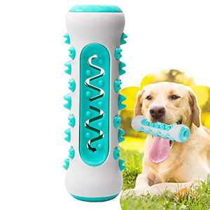 Dog Chew Toy for Aggressive Chewer, Upgraded Natural Rubber Brushing Stick for Dog Teeth Cleaning, Safe Bite-Resistant Dog Toothbrush Stick Dental Chew Toy for All Breed of Dogs(Fit 25-70 lbs)