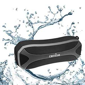 COMISO Portable Bluetooth Speakers, Waterproof IPX7 LED Light Wireless Loud Sound Powerful Bass Stereo Pair Bluetooth 5.0 24H Playtime Handsfree Call Portable for Outdoors