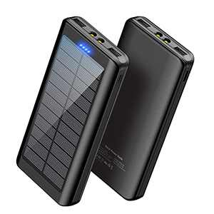 Solar Charger Power Bank 30000mAh - YPWA Portable Charger Power Bank Solar Phone Charger 2 USB Output with LED Flashlight for Camping Outdoor Compatible with iPhone | Android | Tablets