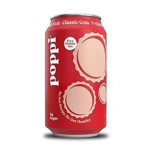 poppi A Healthy Sparkling Prebiotic Soda, Gut Health & Immunity Benefits, 12pk 12oz Cans, Classic Cola
