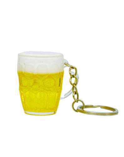Beer mug Cute Key Chains for Women Girl Girlfriend, Bag charm,Keychain for Car Keys, Features a Detachable Keyring, Durable Plastic, Gift for Girl Women Men…