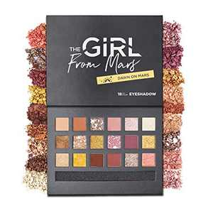High Pigmented Makeup Eyeshadow Palette 18 Color, THE GIRL FROM MARS Blendable Matte Shimmer Glitter Eye Shadow Long Lasting Colorful Make up Palletes Eye Makeup Kit Paletas de Maquillaje Profesional