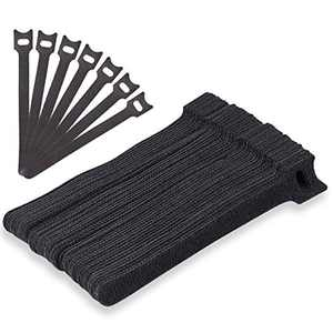 Cable Ties Black Cord Organization Straps Thin Pre-Cut Design Wire Management 6 Inches 50PCS