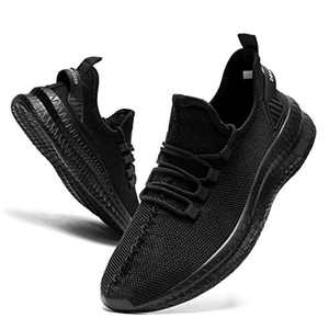 EGMPDA Mens Trainers Shoes Running Walking Sneakers Workout Casual Work Tennis Gym Cycling Athletic Sprot Mesh Shoes