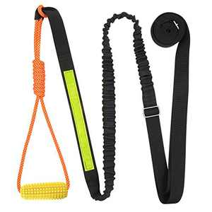XiaZ Dog Outdoor Bungee Hanging Toys - Exercise Rope Tree Tug of War Toys for Small or Large Dogs, Retractable Interactive Dog Chew Toy to Solo Play