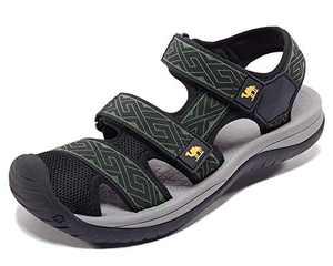 CAMEL Men Walking Sandals Athletic Sport Waterproof Shoes Closed Toe Comfort Adjustable Anti-Slip for Hiking, Trekking, Water, House, Beach, Fisherman