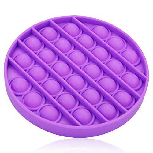 Beleeb Push Pop Bubble Sensory Fidget Toys,Stress Reliever Anxiety Relief Toy for Kids and Adults, Round(Purple)
