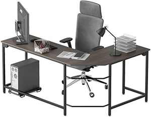 L-Shaped Computer Office Desk,Corner Gaming Desk for Writing Workstation with Small Table, Modern Simple Space Saving Office Table