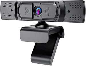 1080P Webcam with Microphone, Auto Focus and Privacy Cover, USB 2.1 Desktop Laptop Computer Web Camera Great for Zoom Meeting, Video Streaming, Conference, Game, Study