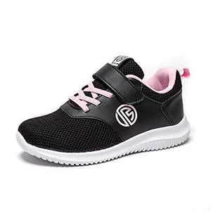 BONDON Black Pink Toddler Little Big Kids Boys Girls Knit Mesh Sneakers Unisex Running Shoes