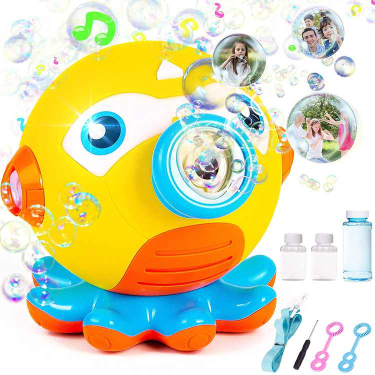 Bubble Machine Bubble Blower Automatic Bubble Maker for Kids with 1000+ Bubbles per Min for Party Birthday Best Bubble Toys Outdoor Indoor