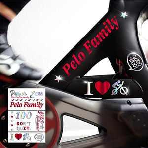 Crostice Die-Cut Stickers for Peloton Bike & Bike+,Pelo Family Sticker,Accessories for Peloton(Laser)