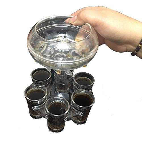 Fitist 6 Shot Glass Dispenser and Holder,Bar Shot Dispenser Cocktail Dispenser For Filling Liquids,Multiple 6 Shot Dispenser,Cocktail Dispenser,Carrier Liquor Dispenser Gifts Drinking Tool
