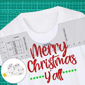T-Shirt Alignment Ruler, 16''5'' Graphics Tshirt Ruler Guide for Vinyl, Acrylic Tshirt Ruler for Heat Press, T Shirt Placement Ruler with 1 Pcs Soft Tape Measure