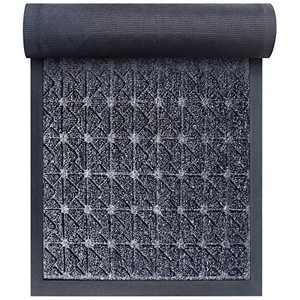 """Front Door Mat Outdoor Indoor, 30 x 17"""", Rubber Heavy Duty Entrance Doormat, Durable Non-Slip Waterproof Door mats, Low-Profile All-Weather Doormats for Entry, Garage, Patio, High Traffic Areas"""
