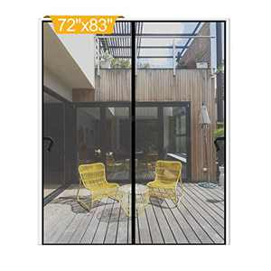 "Magnetic Screen Door 72 x 83 inch, DIXLAMN Magnet Screen Door Mosquito Door Net with Heavy Duty Fits Door Size up to 70""x81"" Max for Entry Door /Exterior Door /Interior Door /Kitchen Door/Patio Door"