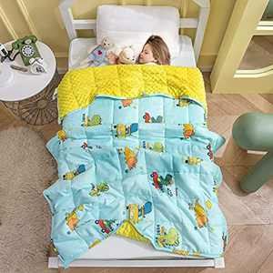 Weighted Blanket For Child Teenagers&Children Anxiety Relief&Sensory Calming Blanket For Great Sleep&Stress Relief 100% Soft Cotton With Glass Beads Weighted Blanket