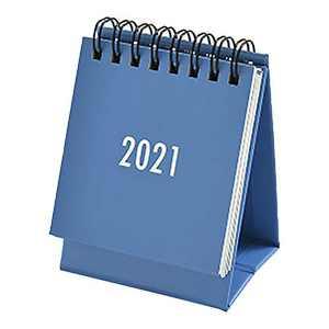 2021 Small Desk Calendar s imple Solid Color Plan Book Mini Calendar Decoration (Blue)