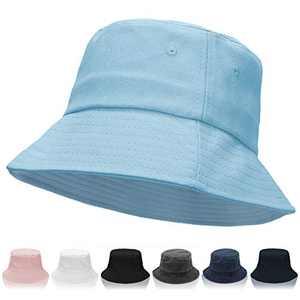 Women Bucket Hats - Unisex Bucket Hat Cotton Beach Hat Summer Fisherman Hat Sun Hat for Women Men