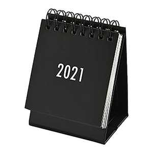 2021 Small Desk Calendar s imple Solid Color Plan Book Mini Calendar Decoration (Black)
