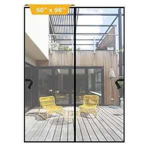 """Magnetic Screen Door 60 x 96 inch, DIXLAMN Magnet Screen Door Mosquito Door Net with Heavy Duty Fits Door Size up to 58""""x94"""" Max for Entry Door /Exterior Door /Interior Door /Kitchen Door/Patio Door"""