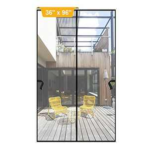 "Magnetic Screen Door 36 x 96 inch, DIXLAMN Magnet Screen Door Mosquito Door Net with Heavy Duty Fits Door Size up to 34""x94"" Max for Entry Door /Exterior Door /Interior Door /Kitchen Door/Patio Door"