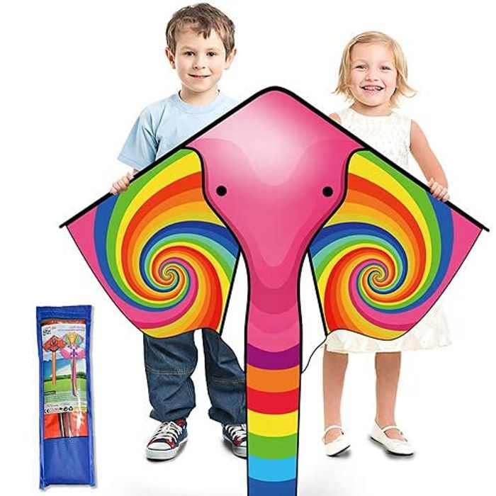 Ynybusi Huge Elephant Kites for Children and Adults - Large Kite with Long Tail & Kite String Easy to Fly