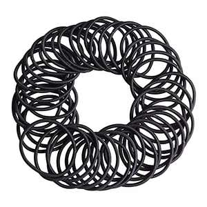 SOPHIE LENA 80 Pieces Black Hair Ties,4 mm Black Elastic Hair Ties Hair Bobbles Hair Bands For Women With Thick Hair, Hairbands For Girls Hair Elastics Band No Metal Ponytail Holders