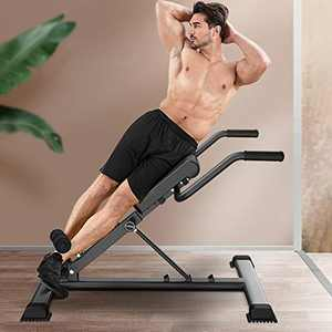 Adjustable Roman Chair 330 Lb Heavy Duty Back Extension Bench 4 In 1 Functional Foldable Push Up Bench Workout Bench For Home Gym