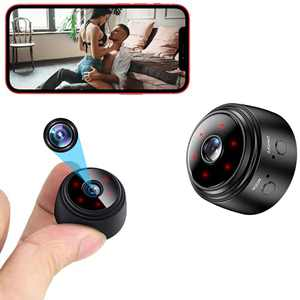 Mini Spy Camera WiFi Small Wireless Baby Monitor Home Security Surveillance Nanny Cam with Live Feed Phone APP Night Vision Motion Activated Real Time Indoor Video Recorder