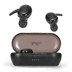 WXM Bluetooth 5.0 Wireless Earbuds Running Headphones with Deep Bass Stereo 24 Hrs Playtime One Button Control IPX5 Waterproof Sports Earbuds with Mic & Drop-Safe Fit Design for Workout Fitness