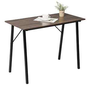 """Computer Study Desk for Small Spaces 40"""" Home Kids Writing Desk Laptop Gaming Table for School Students Modern Portable Wood Work Desk for Office Corner Bedroom with Metal Frame, Brown Wood Grain"""
