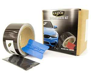 Luxe LightWrap Gloss Medium Tint Shadow Chrome Delete Roll Professional Grade Vinyl Wrap Tape, Kit Includes Squeegee (2 in x 25 ft)