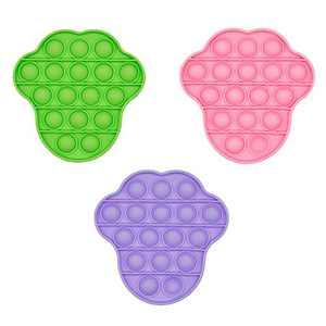 LIFTREN Push pop Bubble Fidget Toys,Squeeze Sensory Toys,Stress Reliever Anti-Anxiety Toy for Autism with Special Needs (3Pack,Green+Purple+Pink)