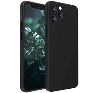 """Compatible with iPhone 12 pro max case with Camera Lens Protector Liquid Silicone Gel Rubber Phone Case,Cases for iPhone 12 Pro max Cover 6.7"""" Slim Soft Microfiber Lining Protective Case(Black)"""